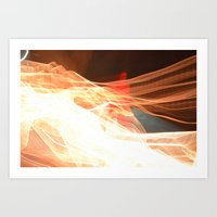 Bending the light grids Art Print