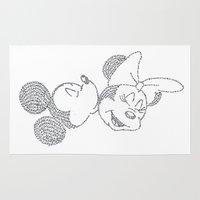 minnie Area & Throw Rugs featuring Mickey & Minnie by S. L. Fina
