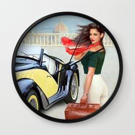 "Art Deco Bella ""ragazza"", Beautiful girl Wall Clock"
