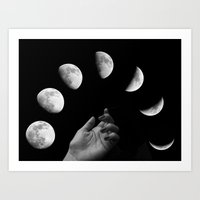 les mis Art Prints featuring Mis Manos by AmelieObscura