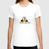barcelona T-shirts featuring BARCELONA by VIULETA