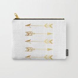 Faux gold foil arrows Carry-All Pouch