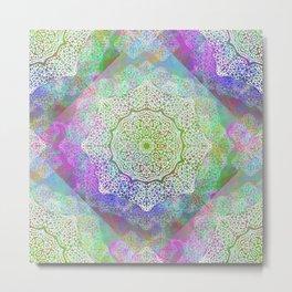 White Flower Mandala G406 Metal Print