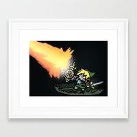 hyrule Framed Art Prints featuring Hyrule Master by PeekingBoo