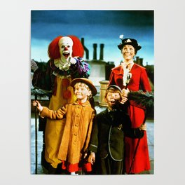 PENNYWISE IN MARY POPPINS Poster