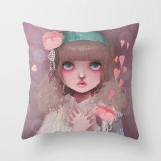Le coeur en liesse... Throw Pillow