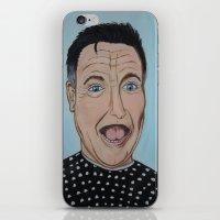 robin williams iPhone & iPod Skins featuring Robin Williams Portrait by Tania Allman Art
