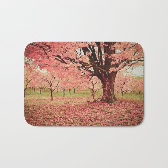 Wind and Leaves Bath Mat