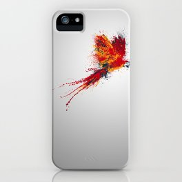 Colorfull parrot iPhone Case