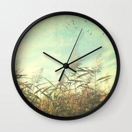 Soaring Storks Wall Clock