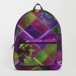 Geometric Watercolor Green and Purple Backpack