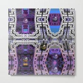 Cubistic 3-d Futuristic Town Metal Print