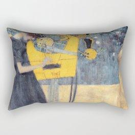 """Gustav Klimt """"Music (Die Musik)"""" Rectangular Pillow"""