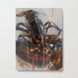 Lobster Primary Metal Print