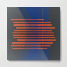 Retro Lines 002 Metal Print