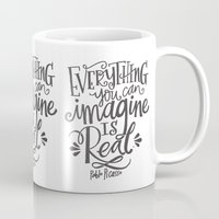 imagine Mugs featuring IMAGINE by Matthew Taylor Wilson