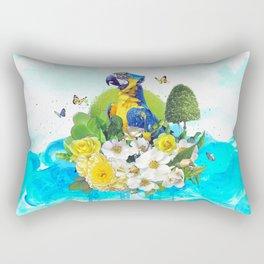 FLORAL PARROT Rectangular Pillow