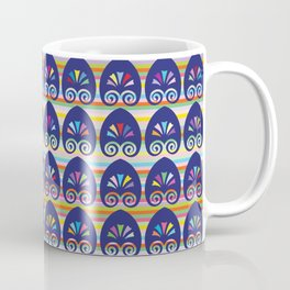 Multicolored fans and stripes pattern Coffee Mug