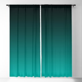 Black and Cyan Gradient 059 Blackout Curtain