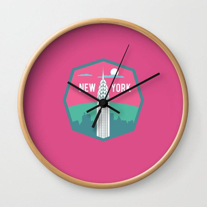 NEW YORK (I LOVE USA SERIE) Wall Clock