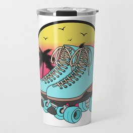 Retro roller skates Travel Mug