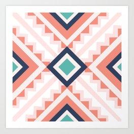 Modern spring pattern Art Print