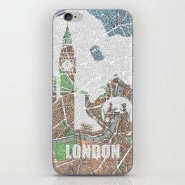 4 o'clock tea London Map iPhone Skin