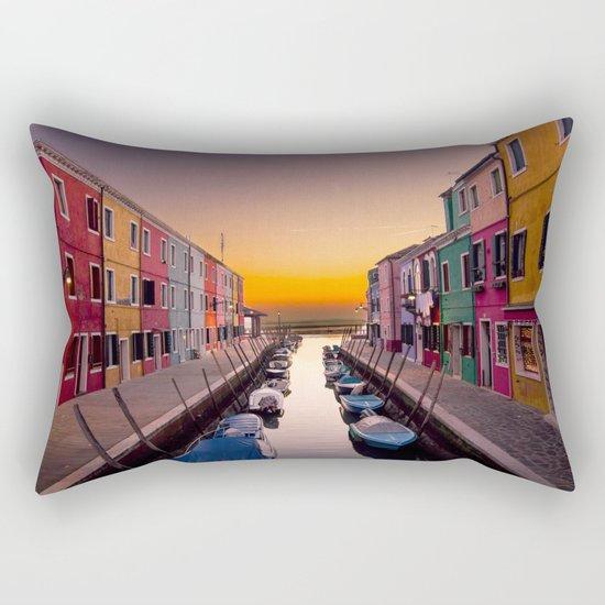 Venice Canal Rectangular Pillow