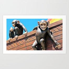 Noah's Chimps Art Print