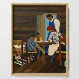 African American Masterpiece 'Giving Thanks' by Horace Pippin Serving Tray