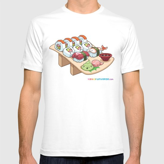Kawaii California Roll and Sushi Shrimp and Tuna Nigiri T-shirt