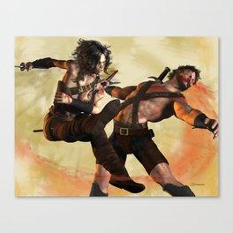 Swipe of the Sword Canvas Print
