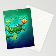 Christmas Abyssal Angler Fish Stationery Cards