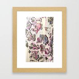 PUFFY CHEATER CHEETA Framed Art Print