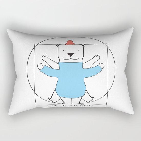Vitruvian Bear Rectangular Pillow