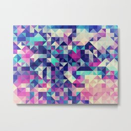 The Colors of the Summer (Minimal Triangle Pattern ) Metal Print