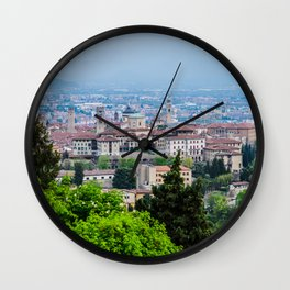 Bergamo, Citta Alta city view Wall Clock