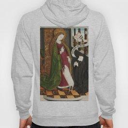 Kneeling in Adoration before Saint Agnes Hoody