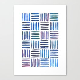 Lines in Blue Canvas Print