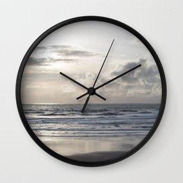 Silver Scene Wall Clock
