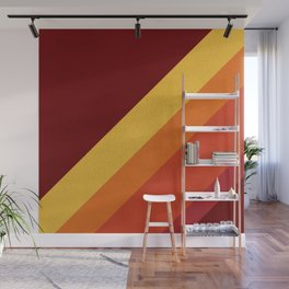 Retro 70s Color Palette II Wall Mural