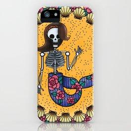 Skeleton Mermaid iPhone Case