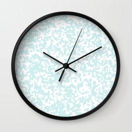 Small Spots - White and Light Cyan Wall Clock