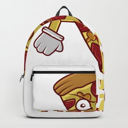 Pizza Funny fight food mushrooms salami fan gift Backpack
