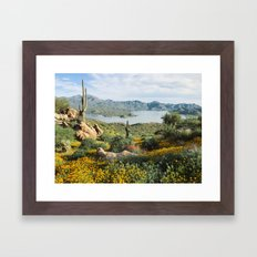 Arizona Blooms Framed Art Print