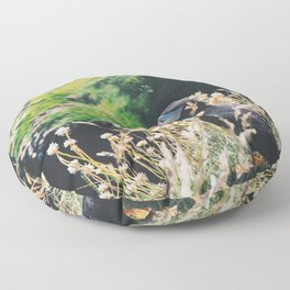 Puffin On Staffa Island Floor Pillow