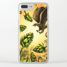 Screaming Eagle and Raging Hops (Warm) Clear iPhone Case