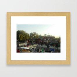 (Ghost street) Wangfujing street Beijing China Framed Art Print