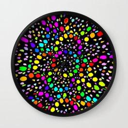 Black Psicodelia Wall Clock