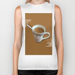 Coffee Is Life. Coffee Is Love Geometry Polygon Food and Drinks Biker Tank